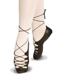 Obermaterial Leder, Ballettsohle aus Wildleder