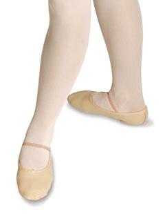 Ballettschuh aus Obermaterial Leder, Wildledersohle, Gummiband inklusive.